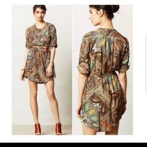 Holding Horses Paisley Palette tunic shirt dress